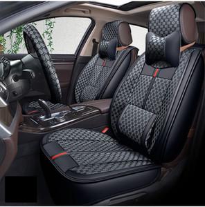 Evrensel Fit Araba Koltuğu Beş Koltuklar için Kapakları Araba Tam Set Deri Koltuk Yastık Mat Moda Tasarım Araba Sudan SUV Için Beş Koltuklar Kapak Kapak