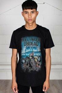 Hollywood Undead Crew Мужская футболка с Лицензированные Мерч Swan Songs День Мертвых
