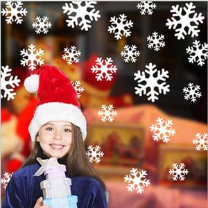 Noël Décoration Fenêtre flocon de neige autocollants bricolage Wall Sticker Creative Noël Home Decor New Year Party Supplies T1I2288