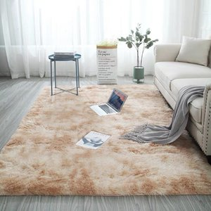 Carpets In Tie-dye Gradient plush Living Room Coffee Table And The Bedroom Rug 60*120CM Washable Carpet Bedside Long Staple Hair Can Be Washed Nordic Mat