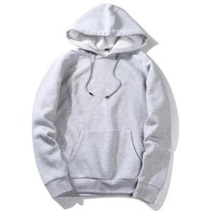 2020 Spring Autumn Mens Thick Fleece Hoodies Men Hip Hop Pure Hoodies Thick Winter Hoody Sweatshirts Unisex Streetwear Hooded