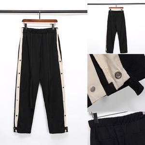 TANRI ESSENTIALS Tasarımcı Pantolon Erkek Moda İpli SİS KORKUSU Relaxed Homme adam Lüks giysiler harfler Punk Hip Hop siyah Sweatpants S-XL