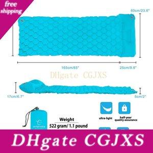 Открытый Кемпинг Руки Надувной спальный мешок Doormat Single Ультра -Light Pad кровать Camping Mats воздушной подушке Doormat Braid Подушка