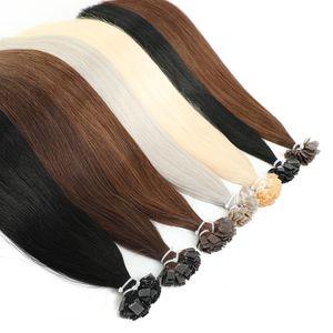 MRSHAIR lig pre plana Dica extensões do cabelo 14 18 Máquina de Remy Cabelo Liso Cápsulas queratina Fusão cabelo louro