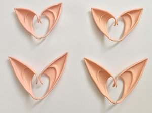 Mysterious Elf Ears Fee Cosplay Zubehör Latex Soft Prosthetic falsche Ohr Halloween-Party-Masken Cos Mask