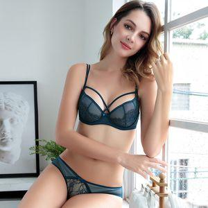 CINOON Hot-seller Empurre Sexy Up Women Lace For Women Lace Bra Transparente acolchoado Sutiã Lingerie Bra Set frete grátis