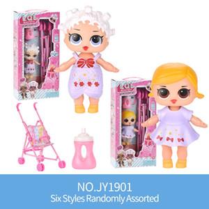 móveis simulação Baby Doll Baby Doll Carriage Cadeira de balanço do bebê Play House Toy Pretend Play Presentes Kid Toy