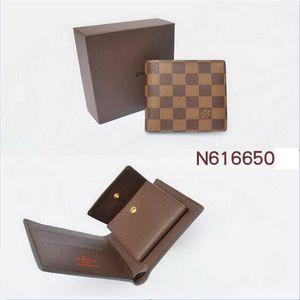 2020 +01 Fashion European popular new designer business wallet hot leather men's wallet short wallet leather men's wallet. With box