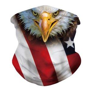 Eagle-Gesichts-Schädel-Maske Zauber Kopftuch Reiten Radfahren Adler Gesichtsmaske Amerika-Flaggen-Gesicht Kopftuch Sport Stirnband Freien Verschiffen OWD1129