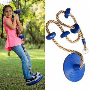 I bambini dell'oscillazione del disco del giocattolo di seduta Swing Kids altalene corda al parco giochi all'aperto Hanging Garden Play Entertainment attività ZZA2349 Lenc #