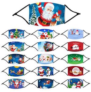 DHL-Schiff! Cartoon-Maske Print Erwachsene Kinder Mundmasken-Eis-Silk Anti-Staub-Masken Atem PM2.5 Gesicht Abdeckung Christmas Party Masken FY4224 Maske