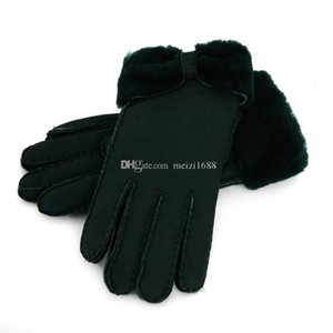 Wholesale - Warm winter ladies leather gloves real wool gloves women 100% quality assurance