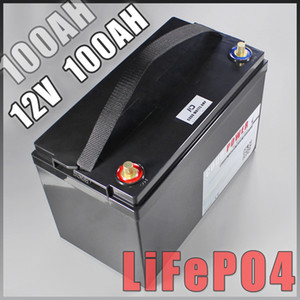 12V 100AH LiFePO4 Batterie mit bms 10A Charger Backup-Power-Inverter RV Boot Licht Camping Sonnen