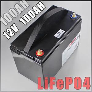 12V 100AH bateria lifepo4 Com BMS 10A Carregador acampar backup de energia inversor barco RV luz solar