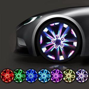 Car Tire Wheel Lights Solar Car Tire Air Valve Cap Light Motion Sensors Colorful LED Light Gas Nozzle Motorcycles Bicycles