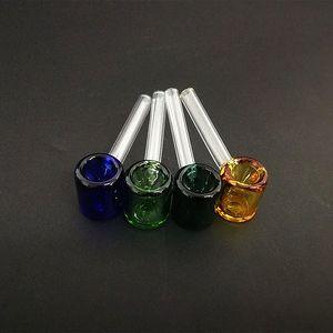 классические стеклянная карманная труба молотка формы курительной трубка 3,26 дюйма мини Galss труба прямой трубка многоцветный выбор AFzv #