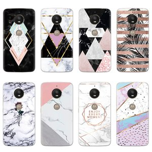 Marble Cases for Motorola Moto C X E5 Play Z2 Z3 G4 G6 Go E4 G5S Play Plus G3 Case Silicone TPU Clear Print Back Cover Coque