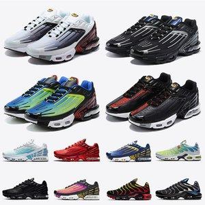 nike ayakkabı air max plus 3 tuned air tn 3 tn Plus 3 kadın erkek koşu ayakkabıları eğitmenler beyaz siyah gri mavi gümüş spor ayakkabı