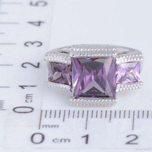 Ringe für Frauen Wedding Band Marke Verpflichtungs Zirkonia Ring wie Diamanten Weißgold überzogenen Edelstein-Ringe