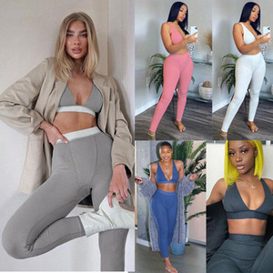 المرأة بذلة عارضة ارتداءها الرياضة قصيرة الأكمام الكرتون المطبوع مصمم سروال طويل نحيل رياضية اليوغا الجري بالاضافة الى حجم الملابس