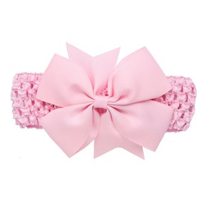 Cute Baby Girl Kid Big Bow Hairband Solid Cotton Stretch Turban Knot Head Wrap Headwear Girls Hair Band Headband