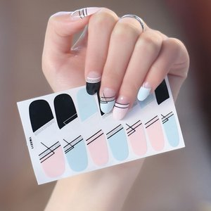 New Design Full Cover Nail Sticker Stripes Christmas Mixed Decals Stickers for Nail Designs Wrap Paper Foil Tips Tattoo Manicure