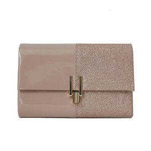 2019 women's new one-shoulder crossbody bag pink sequin stitching fashion all-match wedding dinner clutch bag