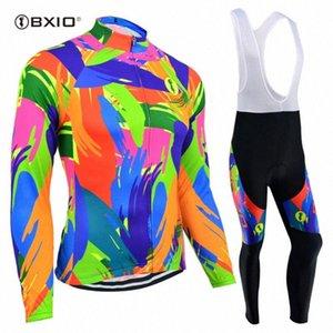 BXIO Pro Cycling Jersey hiver thermique FleeceBicicleta Ropa Ciclismo Invierno Vélo Mtb cyclisme féminin Ensemble vêtements de vélos 122 # requ