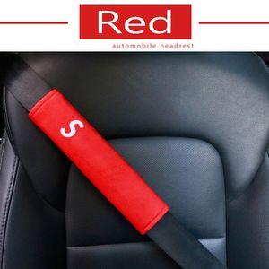 Cojín de hombro de la manera 2PCS Nuevo caliente del coche del cinturón de seguridad de conducción confortable cinturón de seguridad del vehículo suave felpa del cinturón de seguridad automático de la correa del arnés de la cubierta DXY