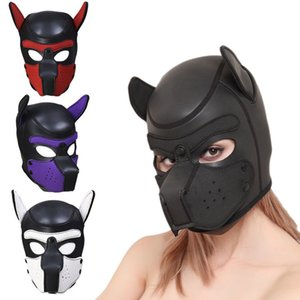 Rubber Toys Cosplay Couples Dog Play Games Full Sexy 1225 Role Sex Adult Mask For Head Sm Y19060302 Iohrt