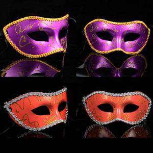 Halloween Venetian metade do rosto Máscara de Halloween Máscara Máscaras Masquerade trajes de Halloween Partido Máscaras Venetian Adultos Gras máscara do partido BH3975 TQQ
