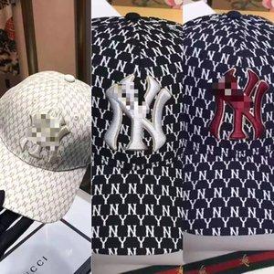 2020 Nouvelle version haute casquette de baseball version coréenne NY pleine impression casquette de baseball personnalisé chapeau hommes de la mode de la mode et le soleil des femmes