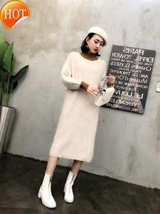 Mulheres 2020 New Longo capuz real Mink Cashmere Qualidade Exportação Factory Outlet Lady camisola wsr545