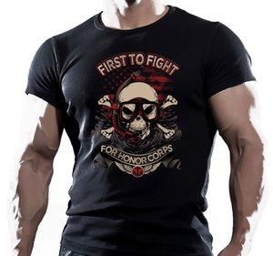 حار بيع جديد رجل T قميص أول من حارب الولايات المتحدة NAVY SEAL T SHIRT قوات -خاص - الولايات المتحدة MARINE ARMY AIRSOFT مضحك يا الرقبة تي شيرت