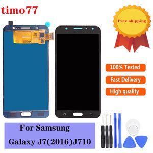 Супер качество OLED для Samsung Galaxy J7 J710 J710F SM-J710F 2016 ЖК-дисплей Digitizer замена экрана 100% протестировано с бесплатным DHL
