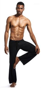 Designer Yogo Pants Solid Color Bandage Breathable Sleep Pant Males Thin Ice Skil Plus Size Pant Mens Loose Summer