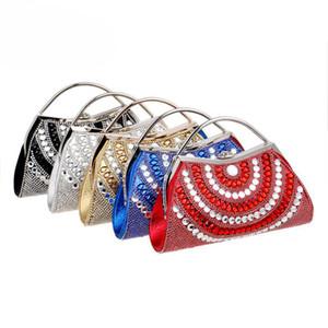 Була цвет Luxury Форма Женщина Кристалл Вечер сцепление Bling дама Dinner Party Bag Алмазный Кошелек Формальный Случай