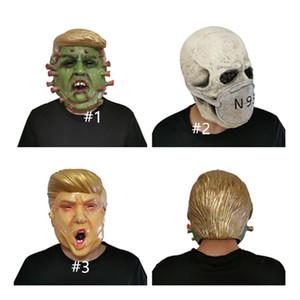 Il presidente degli Stati Uniti Mr.Donald Trump lattice mascherina mascherine Designers pieno facciale del partito del costume di Halloween Overhead maschera di teschio spaventoso Designer Mask D81706