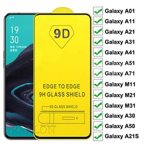 9D Voll Kleber Full Cover gehärtetes Glas Ultra Thin-Schirm-Schutz-freier Film für LG G8 Prower Lite Samsung A10S A21S A51 A71 A11 A01 5G