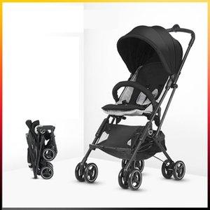 Bebek dört tekerlekli çekçek Hafif Tek tıkla Süspansiyon Mini Araç Baby Stroller ile Seyahat Boarding atın Katlanabilir