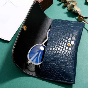 2020 Fashion Women Portable Glasses Case PU Leather Foldable Glasses Box For Eyeglass Oversize Sunglasses Bag Holder Accessories