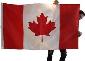 Canadá (Canadian) Flag | 3x5 pés | Impressas cores vibrantes, guarnições de latão, qualidade Poliéster