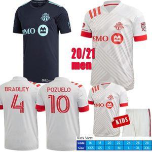 20 21 Toronto FC Soccer Jerseys 10 POZUELO 17 Altidore BRADLEY Giovinco OSORIO 2020 MORROW personnalisés 2021 Home Away Adult Shirt Enfants Football