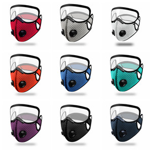 Bicycle Detachable Outdoor Filter Valve Can Put Clear Activated Anti-dust Protective Double Resuable Cycling Mask Carbon Mouth Cover FF Jqre