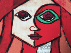 """Romero Britto""""Red""""Home Decor Handpainted &HD Print Oil Painting On Canvas Wall Art Canvas Pictures 7622"""
