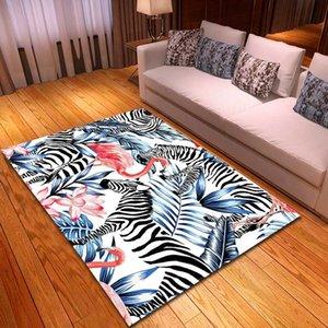 Rainforest zebra di stile Flamingo Tappeti Tappeto ragazze Camera Mat Bambino Giochi Mat Comodino Area Rugs salone della casa di tappeti