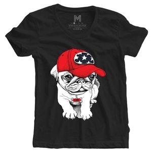 Schwarz Womans Mädchen Hund Mops Unicorn Konzertfilm-Film Fräulein Tumblr 2 T-Shirt Comical Shirts