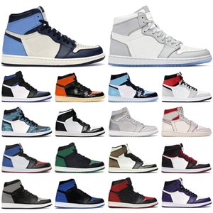 air jordan retro 1 basketball shoes Scarpe da basket da uomo 1s high og jumpman Obsidian Royal Toe Dark Mocha travis scott uomo donna scarpe da ginnastica sneakers