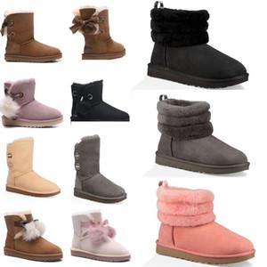 ugg women men kids uggs slippers furry boots slides  Austrália das mulheres novas Bailey BOW Botas de neve por Mulheres inicialização HxeE inverno #