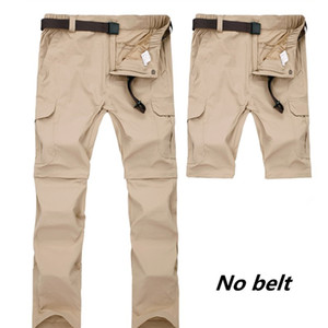Quick Dry UV-Proof Outdoor Men's Hiking Pants Removable Large Size Breathable Elastic Sport Trousers Camping Climbing